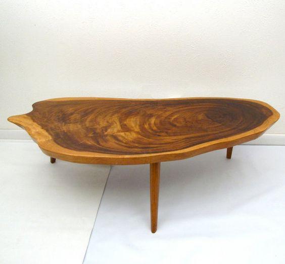 Large Vintage Monkey Pod Wood Slab Coffee Table: Pinterest • The World's Catalog Of Ideas