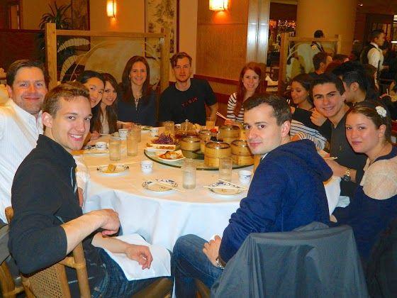 Tech Trek students enjoy dim sum.