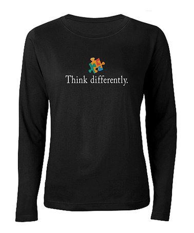 Take a look at this Black 'Think Differently.' Tee - Women & Plus by CafePress on #zulily today!