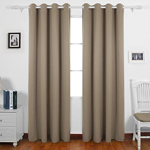 rideau gris et blanc double rideaux
