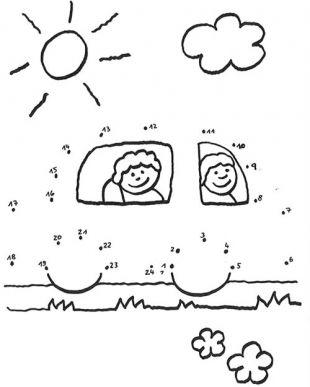 Dessin coloriage points a relier voiture enfant pinterest - Dessin a point a relier ...
