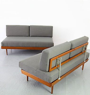 Modern daybed daybeds and mid century modern on pinterest for Mid century modern day bed