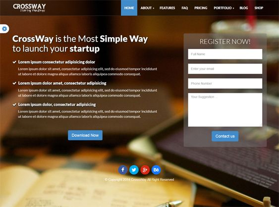 This landing page WordPress theme offers a working contact form ...