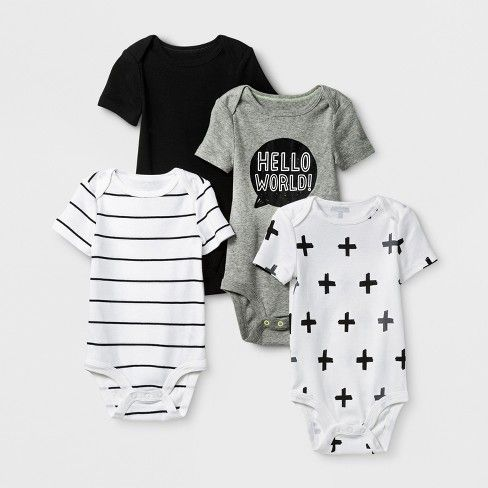 Baby 12 Month 4 Pack Kimono Bodysuits from Cloud Island
