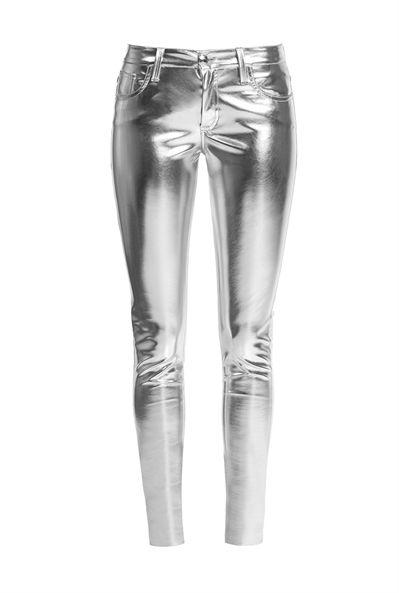 Pinko Pantalón skinny efecto metal