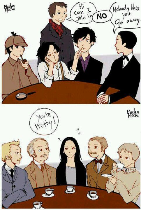 """Yeah, the Holmeses would be all like that, but the Watsons are like """"come join our tea party!"""""""