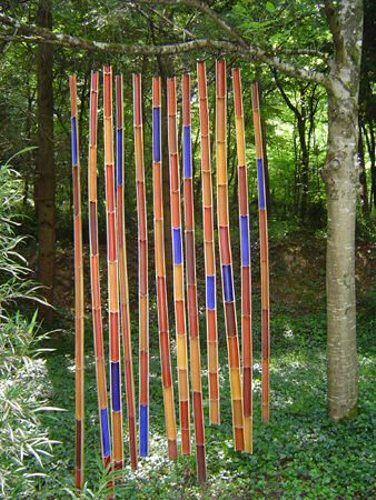Art Nature à l'arboretum de la Martinière - Michel Davo -  Rideau de Bambous