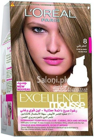 l 39 oreal paris excellence mousse pure blonde 8 saloni health hair color pinterest paris. Black Bedroom Furniture Sets. Home Design Ideas