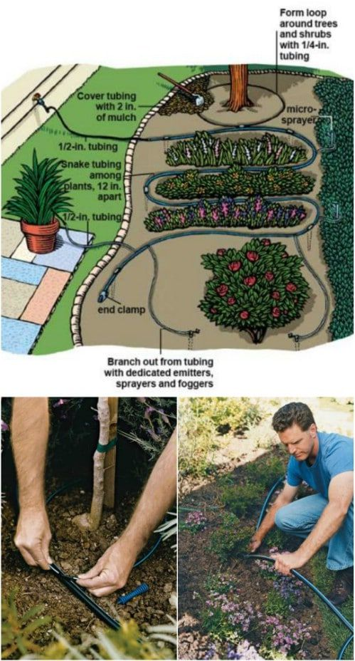 16 Cheap And Easy Diy Irrigation Systems For A Self Watering Garden Garden Irrigation System Irrigation System Diy Garden Watering System