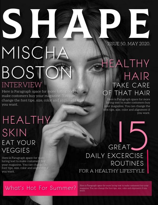 Magazine Cover Front Page Template Magazine Cover Template Fashion Poster Magazine Cover
