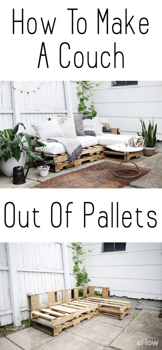DIY a couch out of pallets.