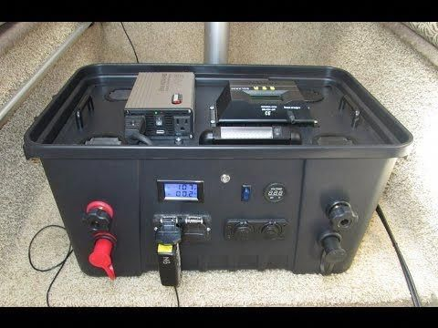 This Diy 110 Amp Hour Portable Generator Is Designed To Be Powered By A 100w Solar Panel And 2 55 Portable Solar Power Portable Solar Generator Solar Generator