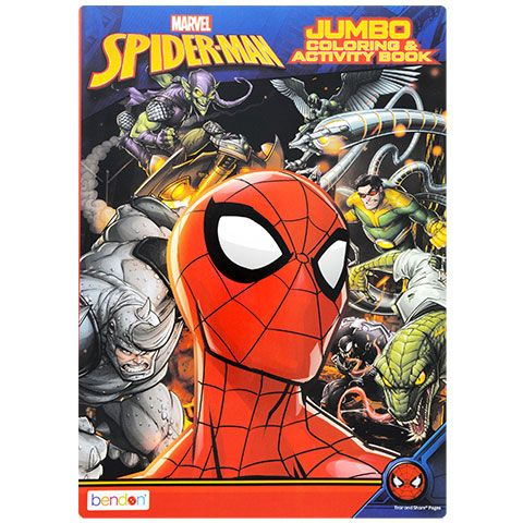 Spider Man Jumbo Coloring And Activity Books Spiderman Color Activities Book Activities