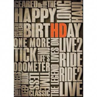 H-D Verbiage Birthday Card #TeenGirlbedroomDecoratingIdeas