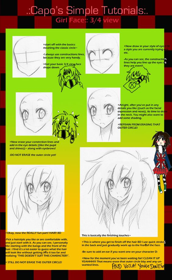 .:CST::Manga Face Tutorial:. by *capochi on deviantART