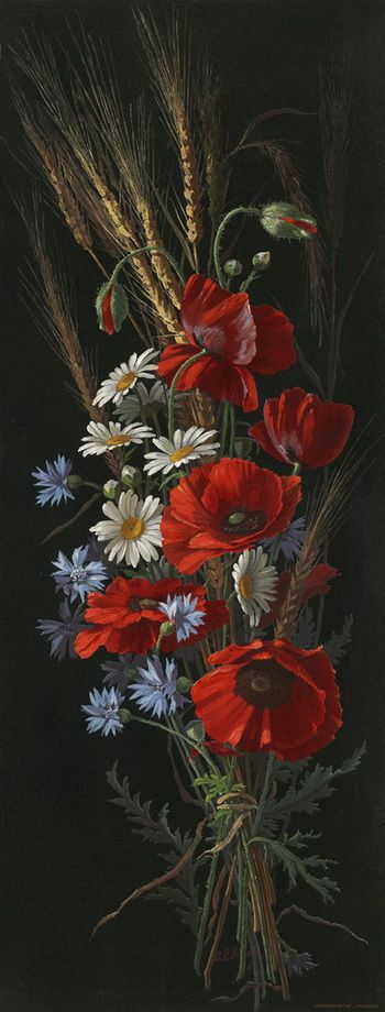 poppies and daisies: