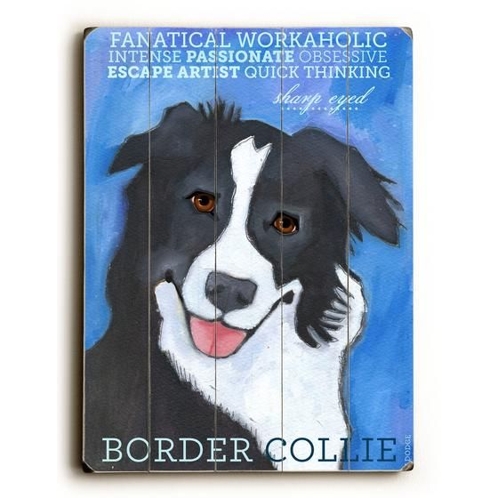 Border Collie Wood Sign Border Collie Collie Borders