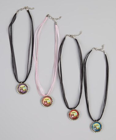 Take a look at this Owl Personalized Bottle Cap Necklace by Bow Clippeez 2 Envy on #zulily today!