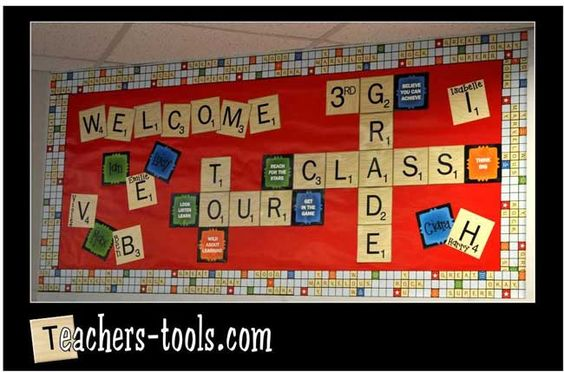 scrabble themed classroom | ... themed classroom decor. We think it is fantastic and there is a theme