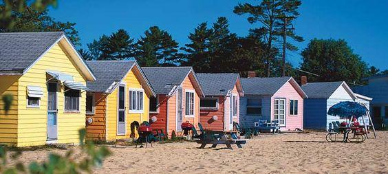 Cute Cabins Oscoda Michigan On Lake Huron Summer Fun