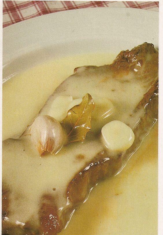 Bife da vazia com molho de manteiga e alho