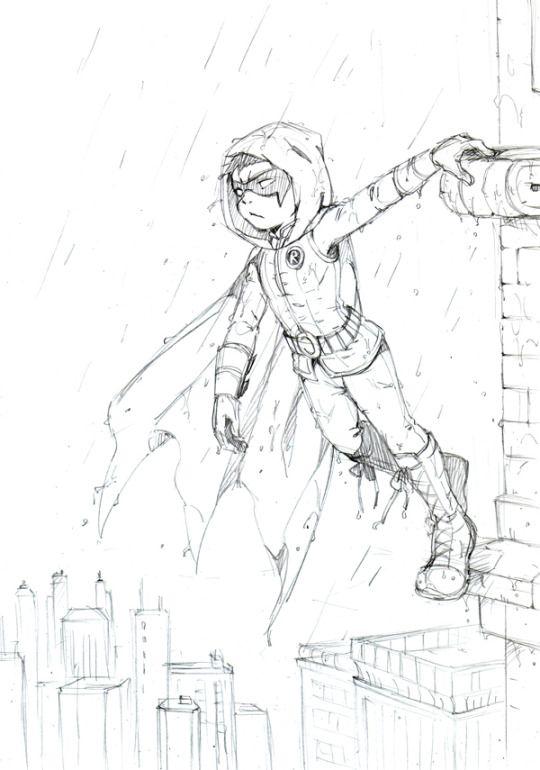 Robin Damian Wayne Coloring Drawing In The Rain Damian Wayne Pictures To Draw Batman And Superman