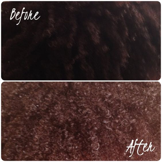 Cinnamon hair lightening mask. Before and after ! Plus ...