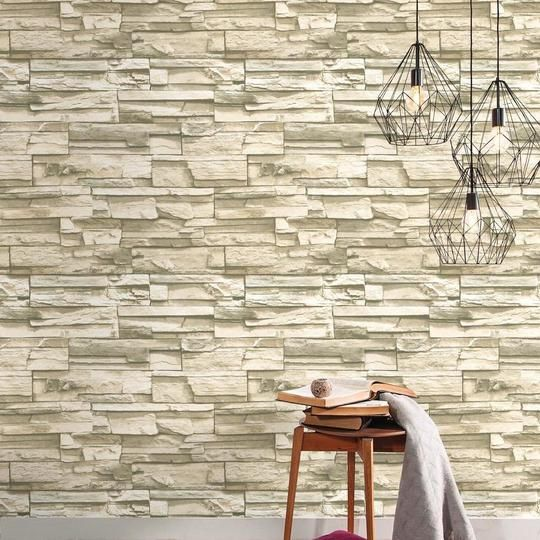 Stacked Stone Peel And Stick Wallpaper Stone Wallpaper Stacked Stone Peel And Stick Wallpaper