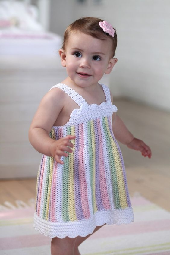 7139 Crochet Pinafore Size 9 12 Months Free Pattern Registration Required To Download Crochet Baby Dress Free Pattern Crochet Baby Clothes Crochet Baby