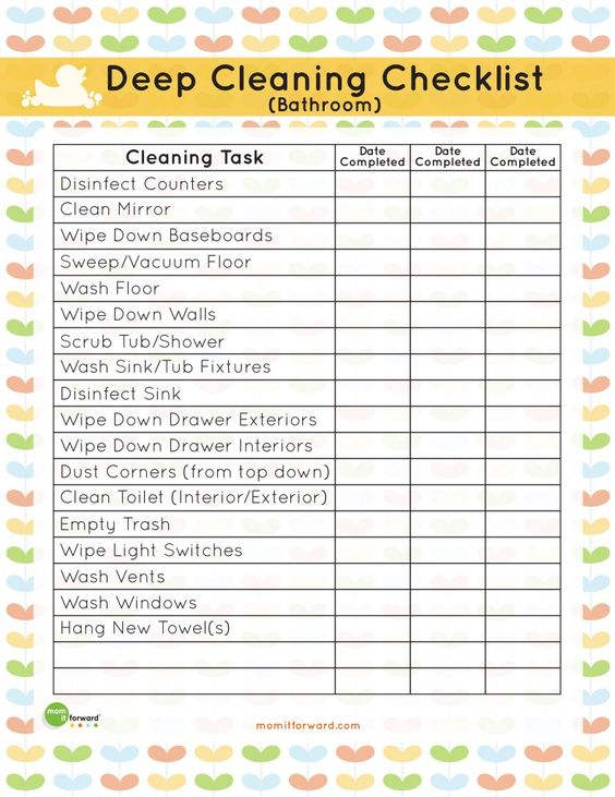 This bathroom deep cleaning printable is the perfect way to quickly get your deep cleaning out of the way.