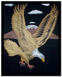 String art eagle crafts string thread pinterest for String art patterns animals