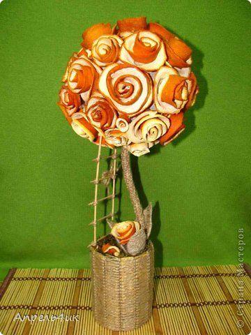 Бонсай топиарий День рождения Макраме Моделирование конструирование Апельсиново-шпагатный топиарий Материал природный Шпагат фото 1: