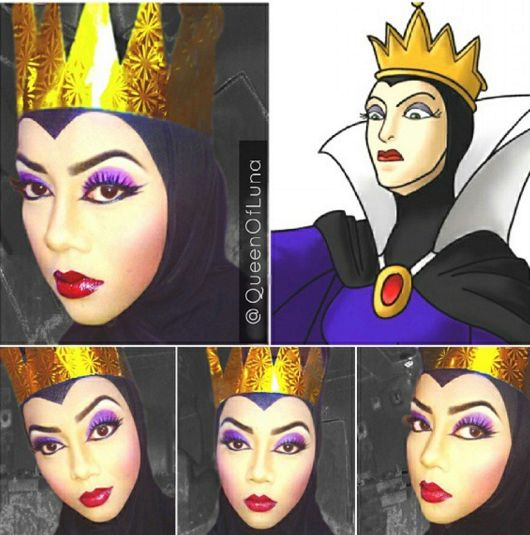 This Beautifully Detailed Eye Makeup Was Inspired By Vanellope From Wreck It Ralph Disney Villains Makeup Evil Queen Makeup Disney Makeup