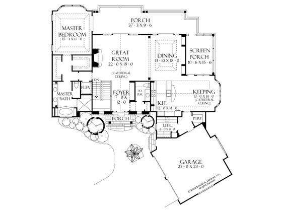 House plans masters and home on pinterest for Craftsman house plans with basement