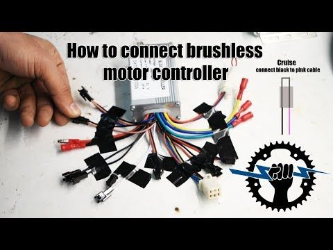 How To Connect Brushless Motor Controller Wires 250w 36v Wire Assemblies Youtube Motor Electric Bike Diy Brushless Motor