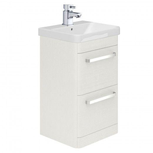 Esk 500mm Floor Standing Vanity Unit Basin In White Freestanding Vanity Units Bathroom Vanity Units Vanity Units Bathroom Units Freestanding Vanity Unit
