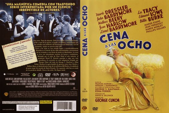 Carátula dvd: Cena a las ocho (1933) (Dinner at Eight)