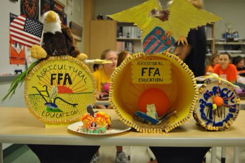 FFA emblem models to review the symbols. Great intro to FFA history. Waterloo FFA - www.OneLessThing.net