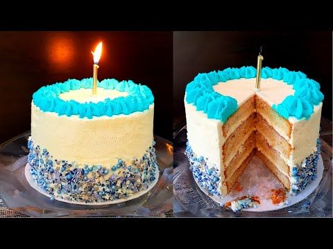 تورته سهله بدون تعقيد للمبتدئين بابسط طريقة Youtube Desserts Birthday Candles Cake