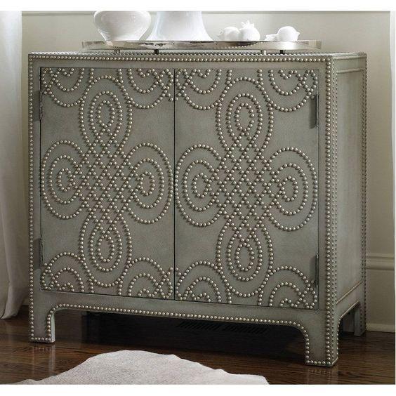 Hooker Furniture 5159-85001 Two Door Nailhead Chest in Green