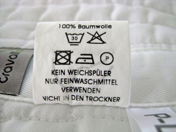 Anleitung zum Waschen von Satteldecken und Schabracken