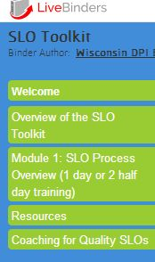 The EE SLO toolkit has training modules for the development, monitoring, and scoring of high quality SLO goals