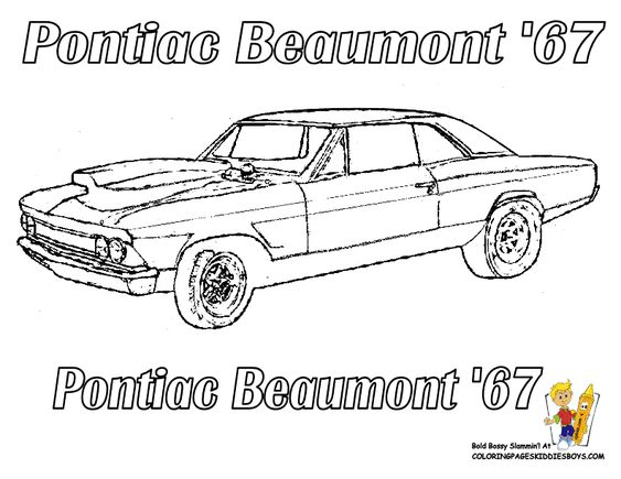 Coloring Pages American Muscle Cars And Boys Com On Pinterest