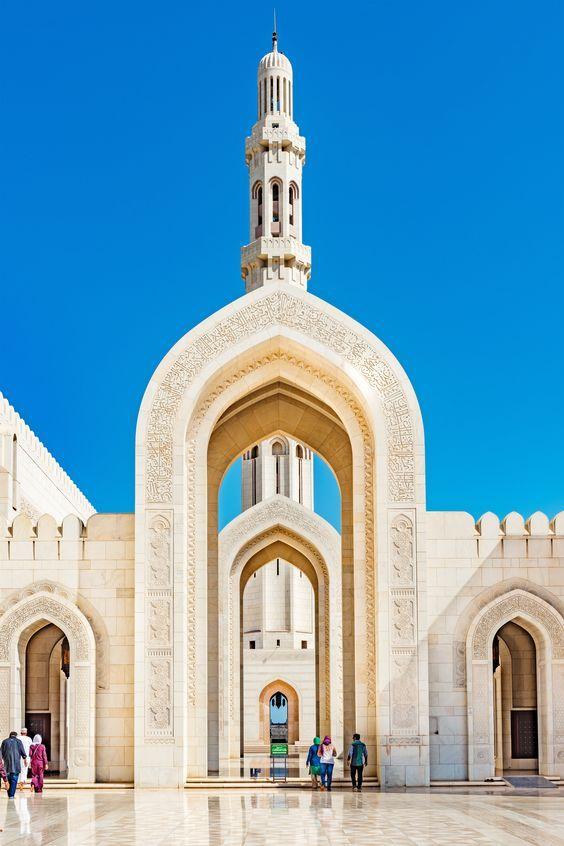 Sultan Qaboos Mosque Oman Arsitektur Islamis Arsitektur Masjid Mesjid