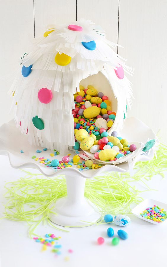 Pinata cake, Papier mache and Belle on Pinterest