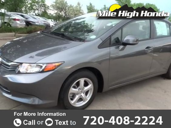 2012 *Honda*  *Civic* *Natural* *Gas*  29k miles $12,499 29608 miles 720-408-2224 Transmission: Automatic  #Honda #Civic #used #cars #MileHighHonda #Denver #CO #tapcars