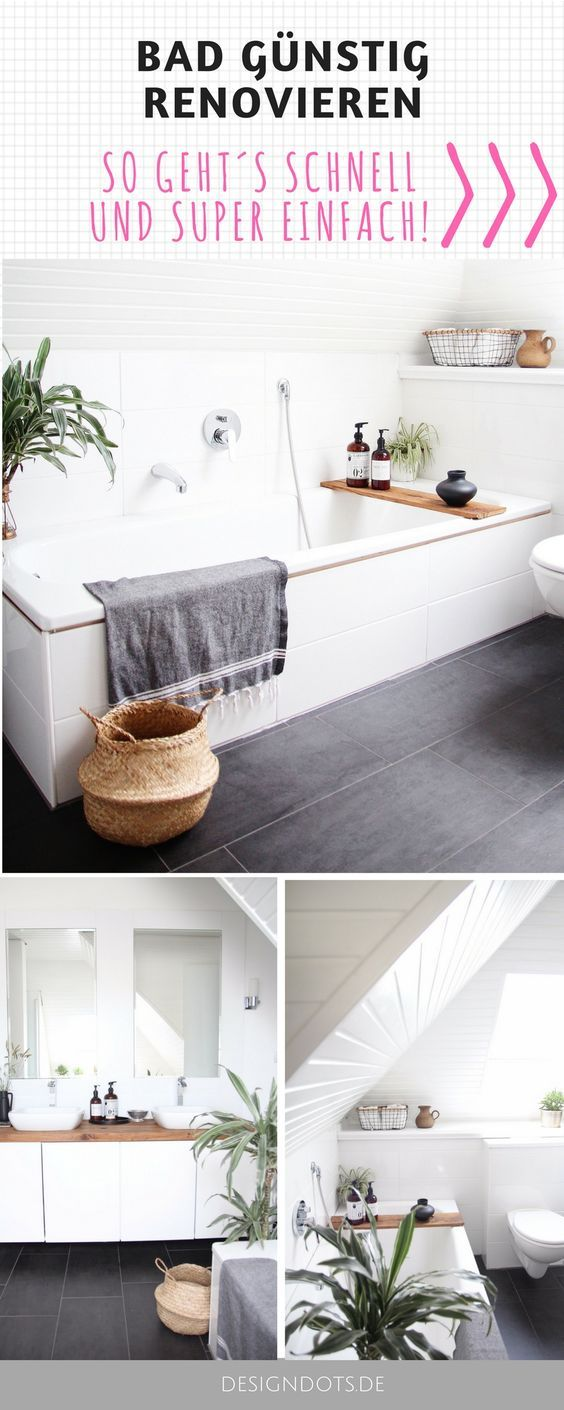Badezimmer selbst renovieren   Badezimmer renovieren, Bad ...
