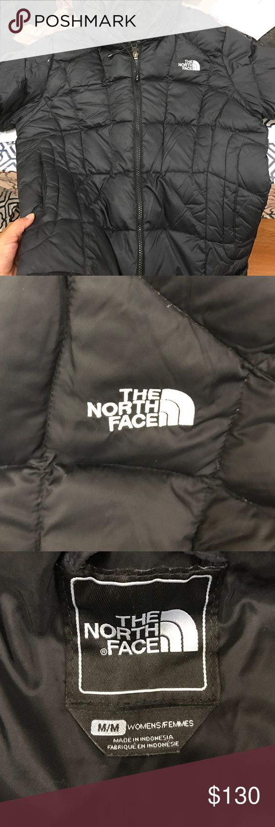 The north face black jacket Black jackets for ladies . Waterproof , secure zip hand pockets. Used jacket not for long time. Looks new . North Face Jackets & Coats Puffers
