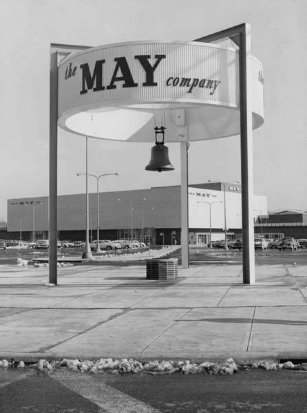 Malls of America - Vintage photos of lost Shopping Malls of the '50s, '60s & '70s  // May Company sign was on the corner of Warrensville and Cedar in University Heights. Loved this store. Pat Schwab