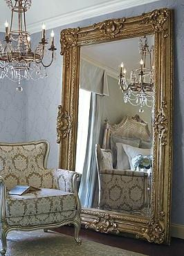 House design interiors and victorian on pinterest for Gold frame floor mirror